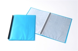 Display Book Tudor A4 20 Pocket Ice Blue