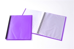Display Book Tudor A4 20 Pocket Ice Purple