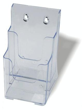 Brochure Holder DL 2 Tier Counter Clear