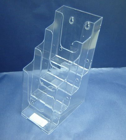 Brochure Holder DL 4 Tier Counter Clear