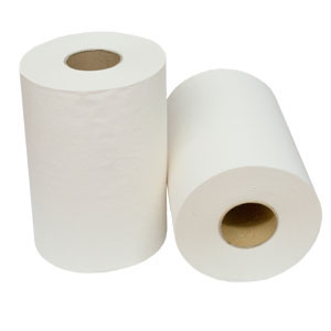 Roll Towel - 4580 - Virgin White (18cm x 80m) 16/Ctn
