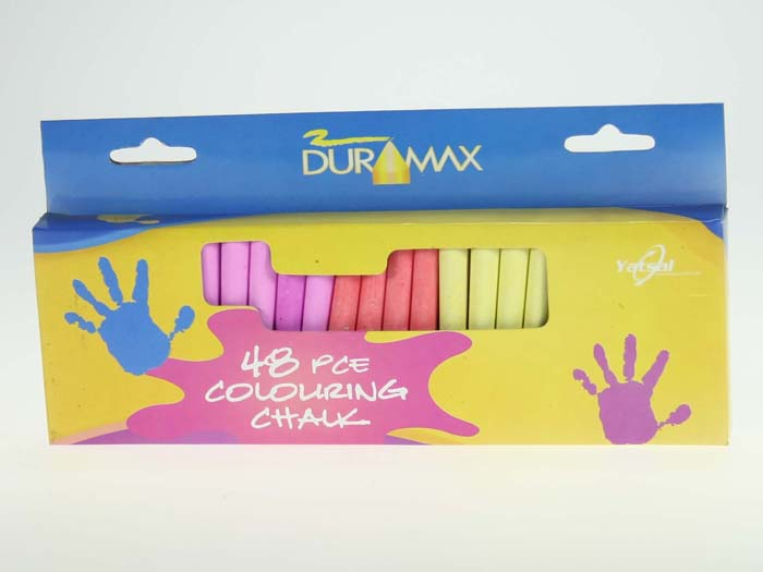Chalk - Colour Sticks 7cm x 6 colours Pk48