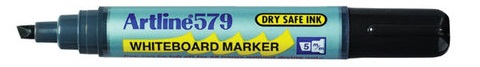 Artline 577 White Board Marker Low Odour Chisel Tip Black EACH