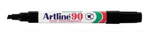 Artline 90 Chisel Tip 2-5mm Permanent Marker Black EACH