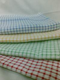 Tea Towel Checked 45x70cm Blue
