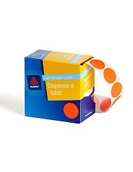 Avery 24mm Label Dot Fluro Orange - Box of 350