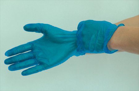 Blue Vinyl Powdered Gloves Large Pack of 100