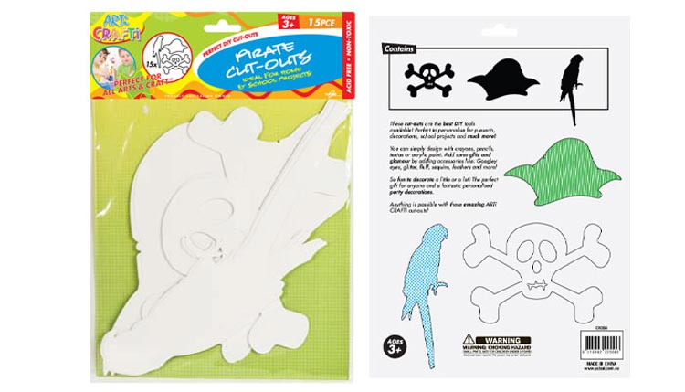 Cut Outs - Pirate Shapes Pack of 15