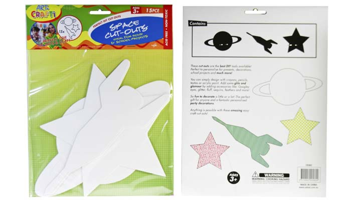 Cut Outs - Space Shapes  Pack of 15