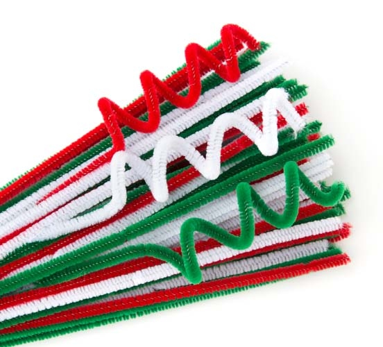 Chenille Stems - 6mm Christmas Pack of 100