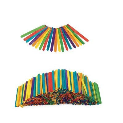 EC Paddle Pop Sticks - Coloured Pack of 1000