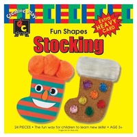 Fun Shapes Stocking 15x15cm Pack of 24