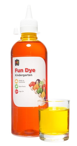 Kindy Liquid Fun Dye 500ml Yellow