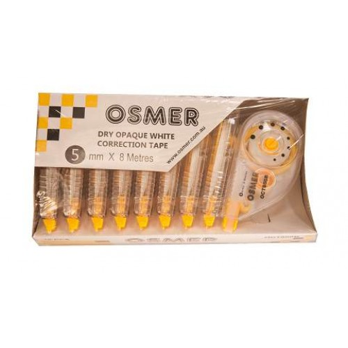 Correction Tape Osmer 5mm x 6m - Pack of 10