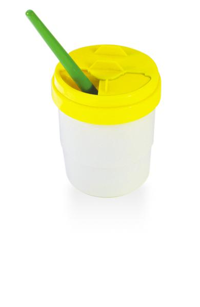 Economy Paint Pot with Slide Lid - Yellow