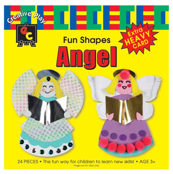 Fun Shapes Angel 15x15cm Pack of 24