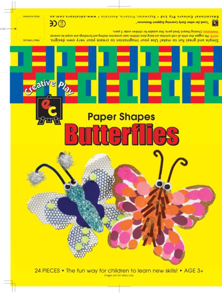 Fun Shapes Butterflies 20x20cm Pack of 24