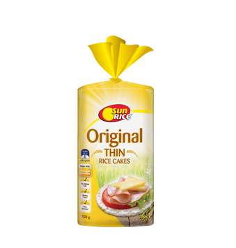 Sunrice Thin Rice Cakes Original 150g