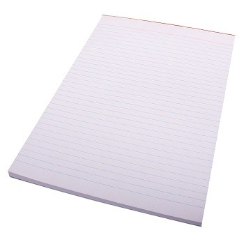 A4 Ruled Office Pad 100 Leaf White
