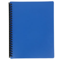 Display Book Tudor A4 20 Pocket Mat Cover Dark Blue