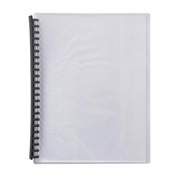 Display Book Bantex A4 20Pkt Clear Cover Blk Back Refillable