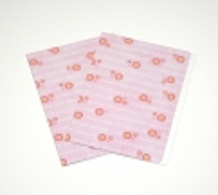 Manilla Folders A4 Pink Flowers Pack of 5