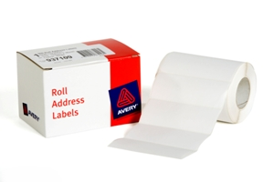 Avery Label White 102x36mm 500 per Roll