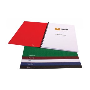 Binding covers A4 250 GSM Pk 100 Quill - Leathergrain