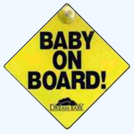 Baby Onboard - Safety Sign Suction Pack of 2