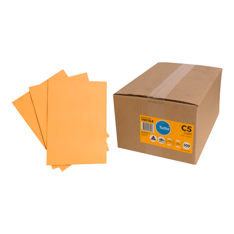 C5 Envelope Kraft Gold A5 (half A4 size) 229x162mm Pack of 50