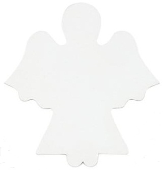 Canvas Shape - Angel Pack of 25