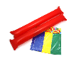PomPom Inflatable Sticks Pk8 60cm x 6.5cmdia (2ea Gr,Blue,Red,Y)