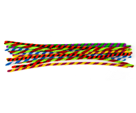 Chenille Stems - 6mm Candy Stripe Multi Colour Pack of 20