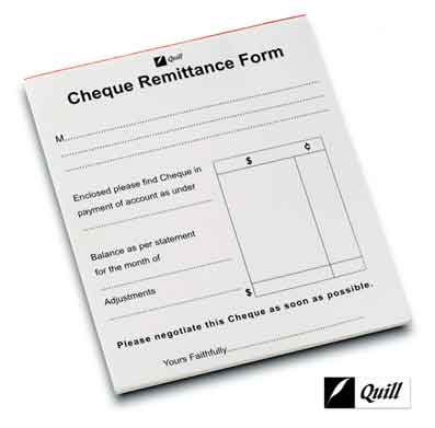 Cheque Remittance Pad