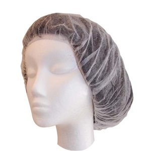 Crimped Hair Net 21' White Beret - Pack of 100