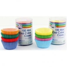 Mini Cup Cases Coloured 4cm Alpen Pk 100