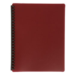 Display Book Tudor A4 20 Pocket Mat Cover Marron
