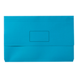 Document Wallet Manilla F/Cap Light Blue