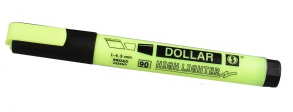 Dollar Hi-Liter Yellow EACH