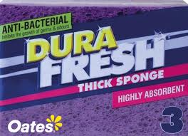 Oates DuraFresh A/B Thick Sponges **BUY ONE CTN, GET ONE FREE**