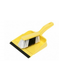 Edco Dust Pan & Brush Yellow