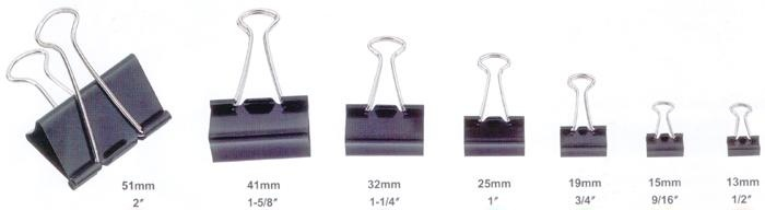 Fold Back Clips 19mm Box of 12