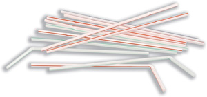 Straws Flexi Stripe 24cm Pack of 250