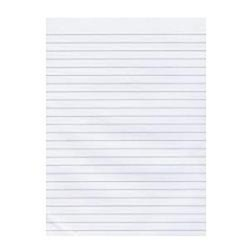 Foolscap Ruled Office Pad 100 Leaf White