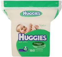 Baby Wipes - Huggies Unscented 160 Refill