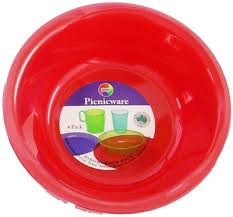 Huro Plastic Cereal Bowl 167mm Diameter Asst. Colours Pack of 4