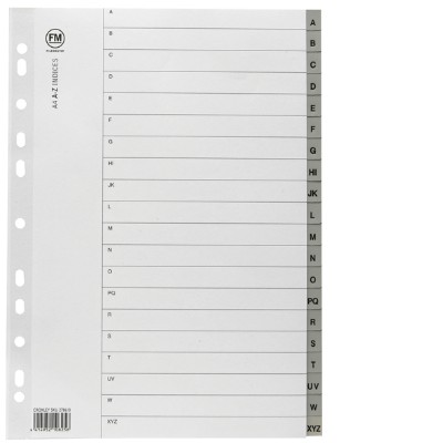Indicies PP A4 A-Z Grey