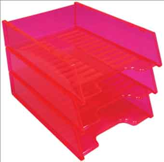 Document Tray Kings Multi-Fit Neon Red EACH