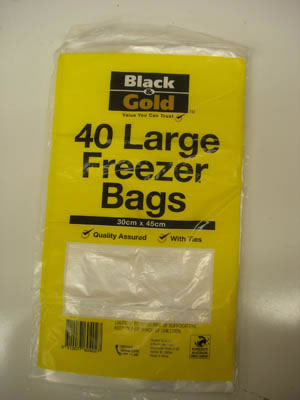 BG Freezer Bags Large 30x45cm Pack of 40