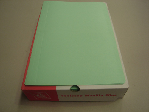 Manilla Folders Foolscap Light Green Pack of 10